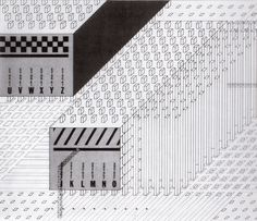 Archizoom. No-Stop City, Residential Parkings. Stuctural scheme, 1970