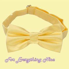 Light Gold Formal Groomsmen Groom Wedding Mens Neck Bow Tie
