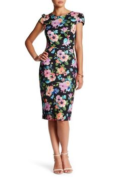 Floral Scuba Sheath Dress by Betsey Johnson on @nordstrom_rack
