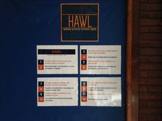 how to be a HAWL TEACHER