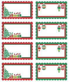 You Can Edit This Template   Great   Free Printable Adorable Christmas  Holiday Labels. Can Use As Gift Tags Also.  Name Labels Templates Free
