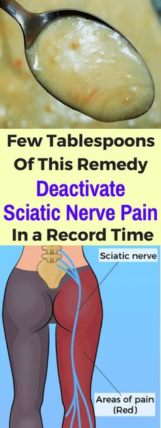 Few Tablespoons Of This Remedy Deactivate Sciatic Nerve Pain In a Record Time - seeking habit