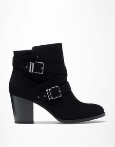 BSK buckle heeled ankle boots Favourite!