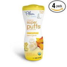 Price: $11.96 - Plum Organics Super Puffs Yellow, Banana  Peach, 1.5-Ounce (Pack of 4) - TO ORDER, CLICK ON PHOTO