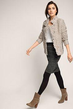 EDC / In lussen gebreid vest met wol