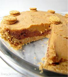 Peanut Butter, Hazelnut and Peanut Butter Cookie Pie
