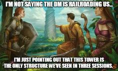 What was the most blatant railroad you ever encountered or presented? For more RPG Memes check out our gallery at: https://fyxtrpg.com/rpg-meme-gallery/