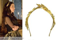 Mary Queen of Scots (Adelaide Kane) wears this handmade gold leaf headband in this week's episode of Reign.