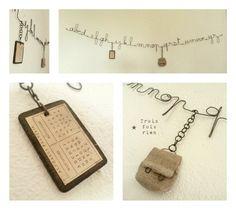 alphabet en fil de fer pour la rentrée des classes ... Trois Fois Rien