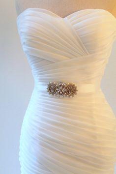Bridal beaded vintage style crystal pearl sash. by IngenueB, $46.00