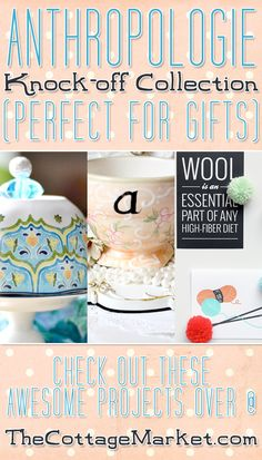 Anthropologie Knock-Offs Perfect For Gifts - The Cottage Market #AnthropologieKnock-OffCollectionGiftGuide, #GiftGuide, #AnthropologieKnock-OffDIYCollection