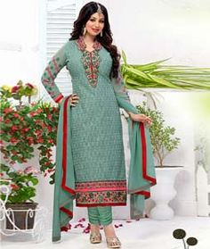 Buy Ayesha Takia Light Green Georgette Churidar Suit 72276 online at lowest price from huge collection of salwar kameez at Indianclothstore.com.