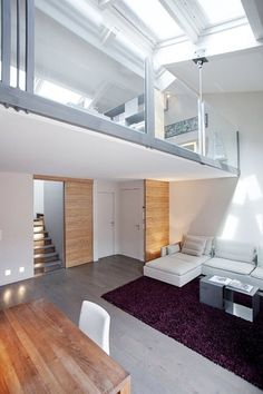 Loft featuring neutral timber panelling for depth