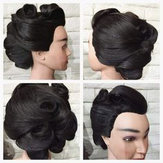 Retro Formal Hairstyle Created by me- follow me on Instagram @theblondebeautician