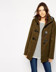 ASOS | ASOS Duffle With Check Lined Hood at ASOS