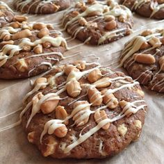 olles *Himmelsglitzerdings*: Pflaumen-Erdnuss-Cookies mit weißer Schokolade #Backpflaume