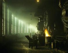 Steam locomotives at chicago ... 1942...