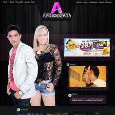 Web site Banda Aforrozada : www.aforrozada.com.br #site #agencia #work #trabalhos #portifolio #agencia3B #midias #website #site #2013
