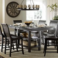 Progressive Furniture Willow Rectangular Counter Height Dining Table - Dining Tables at Hayneedle