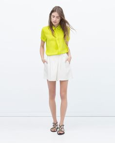 SHORT SLEEVE BLOUSE-Woman-NEW THIS WEEK | ZARA United States