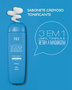 Sabonete cremoso tonificante 3 em 1 limpa, tonifica e retira a maquiagem http://rede.natura.net/espaco/alinelomba. .