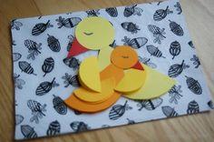 Przytulone ptaszki- origami z koła na Dzień Mamy! Origami birds Mother's Day