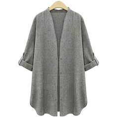 Yoins Plus Size Dark Grey Trench Coat (€23) ❤ liked on Polyvore featuring outerwear, coats, grey, trench coat, plus size women's trench coat, women's plus size coats, gray trench coat and gray coat