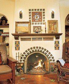 spanish style fireplace | Decor - Fireplaces & Porches | Pinterest ...