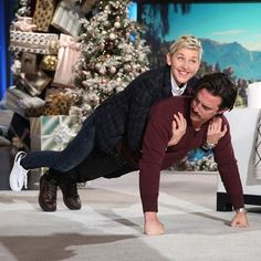 Hey we want a turn, #MiloVentimiglia!  The #ThisIsUs actor recreated a scene from the #NBC show with #EllenDeGeneres and it was downright hilarious.  Click the link in our bio to watch the full clip. : Michael Rozman/Warner Bros. #GilmoreGirls