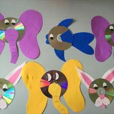 cd animals craft idea