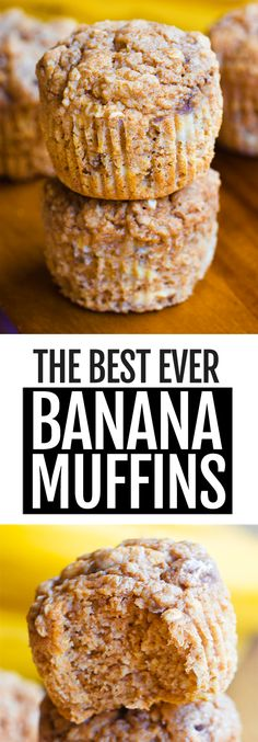The Best Ever Healthy Banana Muffins The Best Ever Healthy Banana Muffins Soft, moist, light, and perfectly sweet healthy banana muffins that will turn breakfast into your favorite meal. Easy to add chocolate chips to the recipe. Best Banana Muffin Recipe, Moist Banana Muffins, Simple Muffin Recipe, Healthy Muffin Recipes, Easy Baking Recipes, Fun Easy Recipes, Healthy Muffins, Easy Meals, Healthy Gluten Free Snacks