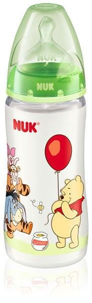 NUK Disney Winnie the Pooh First Choice PP-Babyflasche mit Silikon-Sauger