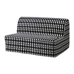 LYCKSELE LÖVÅS Two-seat sofa-bed - Ebbarp black/white - IKEA