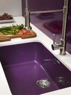 to go with the purple stove! <3 purple sink and backsplash