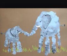 Elefantes con manitos