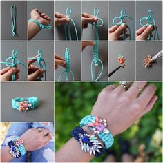 DIY Jeweled Embellished Paracord Bracelet