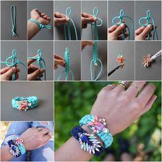 How to DIY Jeweled Embellished Paracord Bracelet | iCreativeIdeas.com Follow Us on Facebook --> https://www.facebook.com/icreativeideas