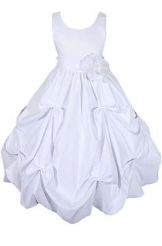 Amazon.com: AMJ Dresses Inc Girls 2 to 10 Flower Girl Communion Easter Dress (10 Colors): Clothing