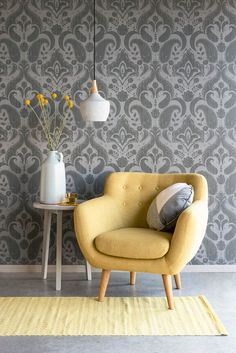 Anne im Sunday Curry bei Living Room, Furniture, Room, Interior, Scandinavian Home, Chair, Home Decor, Inspired Living, Cafe Wall