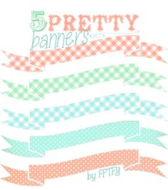 Free Digital Images: Pretty Printable Banners