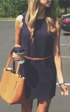 this scalloped dress is perfection