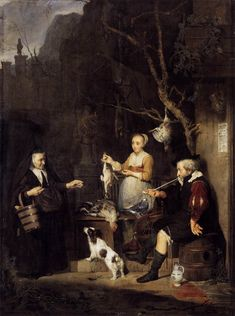 View The Poultry Woman By Gabriel Metsu; Oil on oak panel; 61 x 45 cm; Access more artwork lots and estimated & realized auction prices on MutualArt. Dresden, Gabriel Metsu, William Hogarth, Baroque Painting, Dutch Golden Age, Johannes Vermeer, Dutch Painters, Museum, Portraits