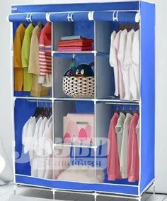 Wardrobe Storage Organizer for Clothes Wardrobe Storage, Clothing Storage, Pipe Shop, Storage Organization, Home And Living, Bedroom Furniture, Shelves, Clothes, Home Decor