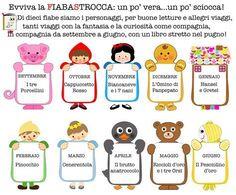 Fiabe in Gioco Montessori, School Bulletin Boards, Creative Teaching, Nursery Rhymes, Crafts For Kids, Classroom, Teacher, Writing, Education