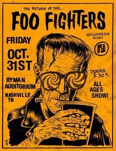Foo Fighters flyer Sonic Highways Nashville show Poster Love, Poster Shop, Gig Poster, Concert Festival, Concert Flyer, Foo Fighters Poster, Arte Punk, Punk Poster, Rock Band Posters