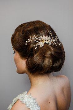 Haarschmuck Brautfrisur Hochsteckfrisur Strass Perlen Silberfarben Braut Frisur