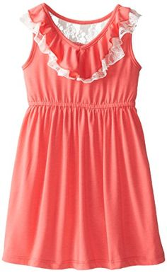 Pinky Pink Little Girls' Ruffle Neck Knit Dress, Coral, 6X Pinky Pink http://www.amazon.com/dp/B00QXED4UA/ref=cm_sw_r_pi_dp_9oHCvb12N4KD4