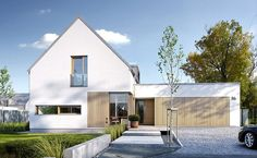 Modern 1 - visualization 1 - Designs of modern homes Modern Barn House, Modern Bungalow, House Cladding, Facade House, Modern Exterior, Exterior Design, Gable House, Contemporary Barn, Chula