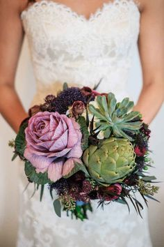 Carry a bouquet made of vegetables instead of traditional flowers. 21 Stunning Nontraditional Wedding Bouquets