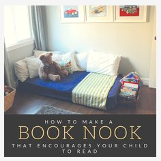 How to Make a reading Book Nook in your home that is decorative but will also encourage your kids to read. This one was completely free! — www.SmartCookieLA.com